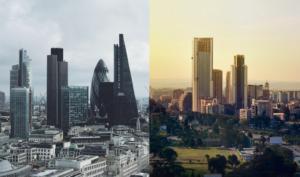 London Nairobi comparison skyline